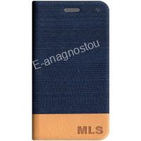 MLS FLIP CASE BLUE FOR IQTALK VERSE 4G