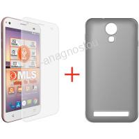 MLS TPU CASE BLACK + TEMPERED GLASS FOR ALU 3G